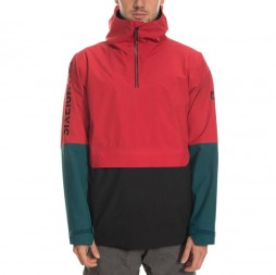 Куртка 686 19/20 Glcr Landscape Anorak Jkt / Red Colorblock