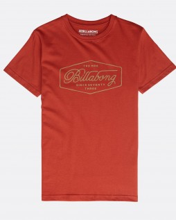 Футболка Billabong Trademark Tee SS rustic red