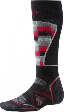 Носки SmartWool Mens PhD Ski Medium Pattern Black red